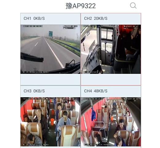 大巴车4G视频安装效果图