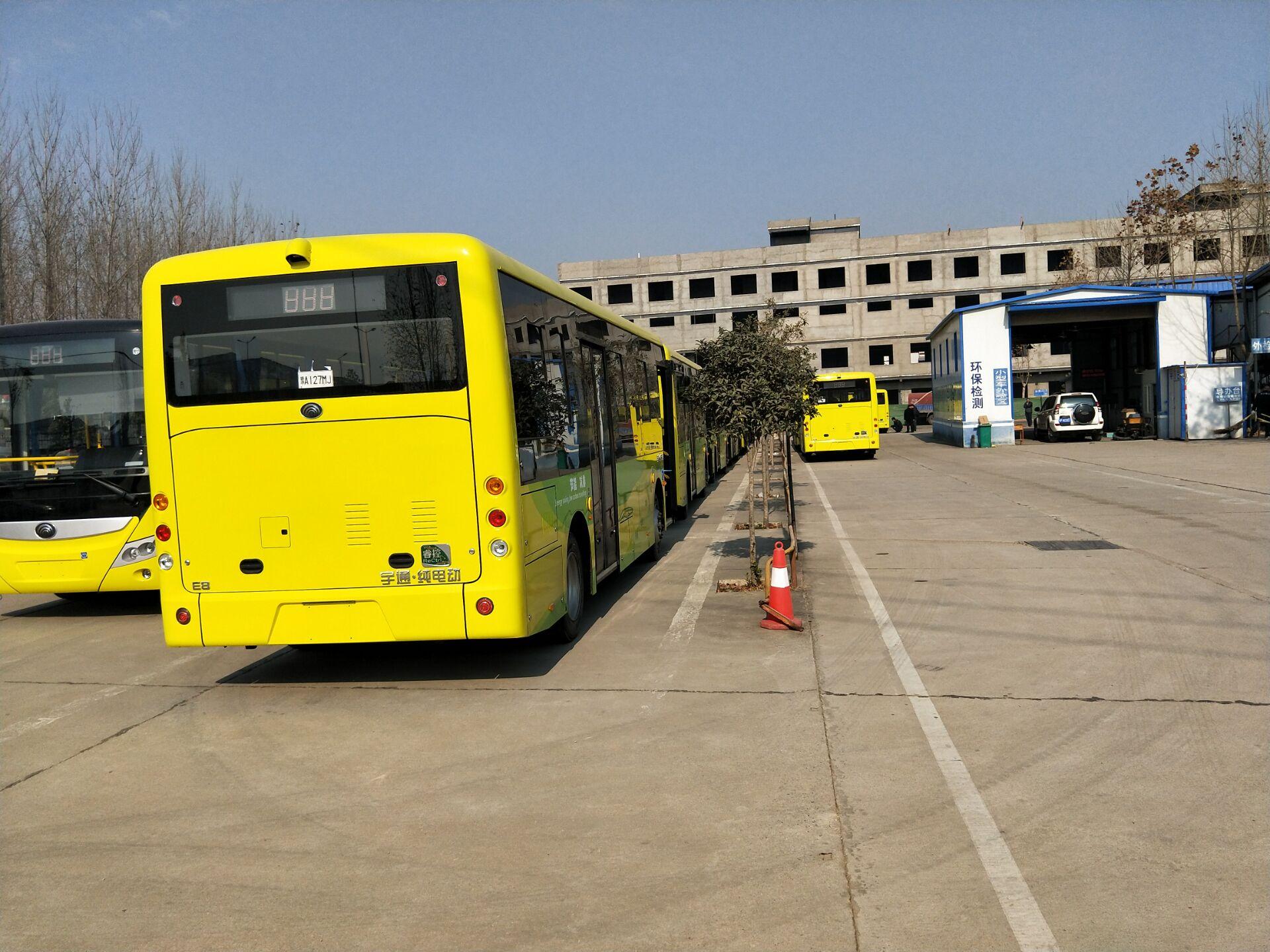 周口公交车安装现场